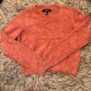 Forever 21 pink fuzzy sweater